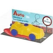 Bild von Auto mit Ballonantrieb / Bunte Geschenke