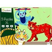 Bild von 3 Puzzles XL 4 - 6 - 8 Teile Tiere